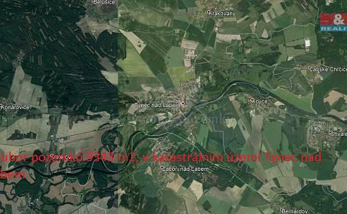 Prodej pole 9343m², Týnec nad Labem, okres Kolín