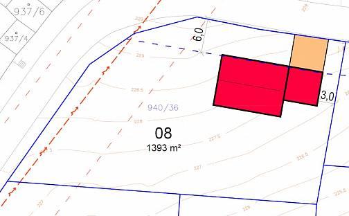 Prodej stavebního pozemku, 1393 m², Dobšice