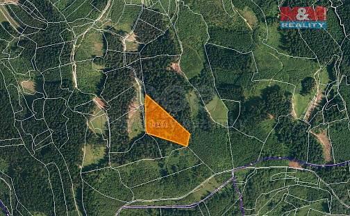Prodej lesa, 16652 m², Lhota u Vsetína, okres Vsetín