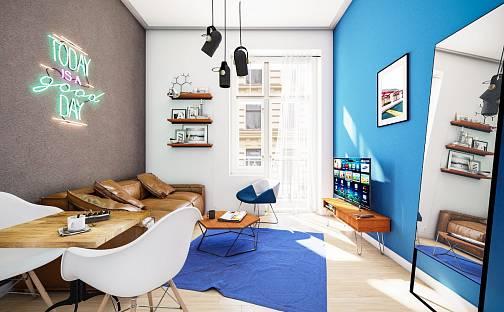 Prodej bytu 1+kk 36m², Ječná, Praha 2 - Nové Město