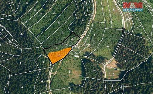 Prodej lesa 5837m², Lhota u Vsetína, okres Vsetín
