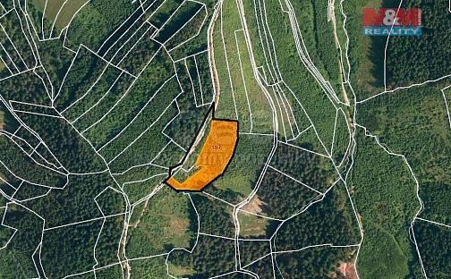 Prodej lesa, 8758 m², Lhota u Vsetína, okres Vsetín