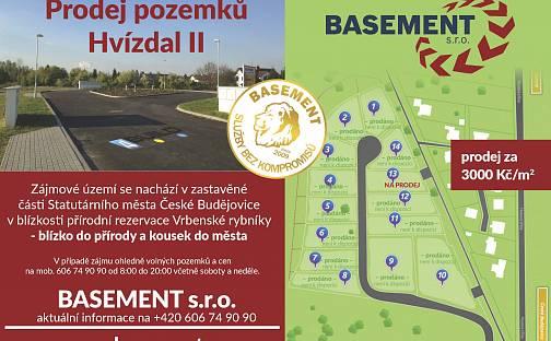 Prodej stavebního pozemku, 1514 m², U Bašty, České Budějovice