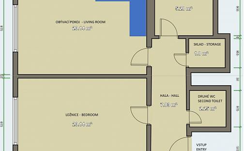 Prodej bytu 2+kk, 60 m², Ježovská, Praha 5 - Motol