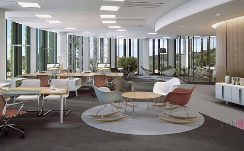Pronájem kanceláře, 1354 m², Pernerova, Praha