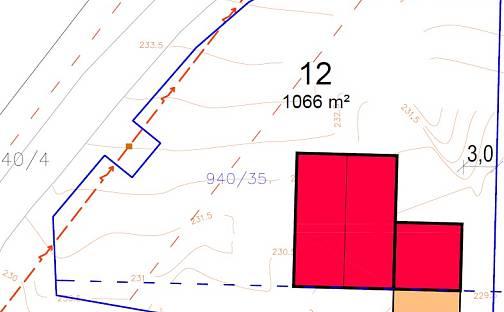 Prodej stavebního pozemku, 1066 m², Dobšice
