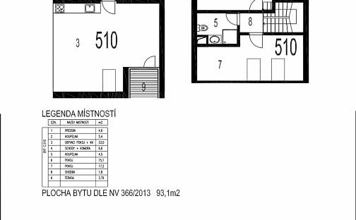 Prodej bytu 3+kk, 74 m², Zátopkova, Milovice - Mladá, okres Nymburk