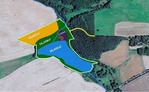 Prodej vodní plochy, 78447 m², Klenová, okres Klatovy