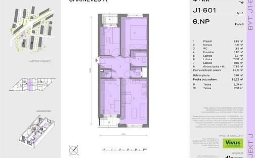 Prodej bytu 4+kk, 70 m², Oty Bubeníčka, Praha 10 - Uhříněves
