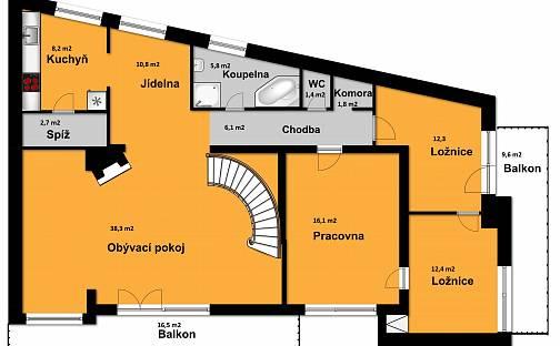 Prodej domu 245 m² s pozemkem 432 m², Krčínská 183, Praha
