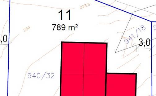 Prodej stavebního pozemku, 789 m², Dobšice