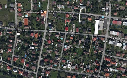 Prodej stavebního pozemku, 1322 m², Borovská, Praha 21 - Újezd nad Lesy