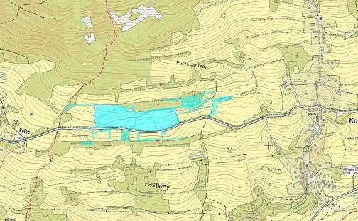 Dražba pozemku 93991m², Kozly, okres Česká Lípa