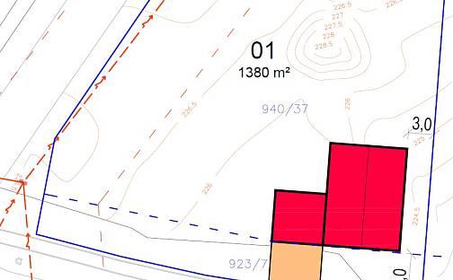 Prodej stavebního pozemku, 1542 m², Dobšice