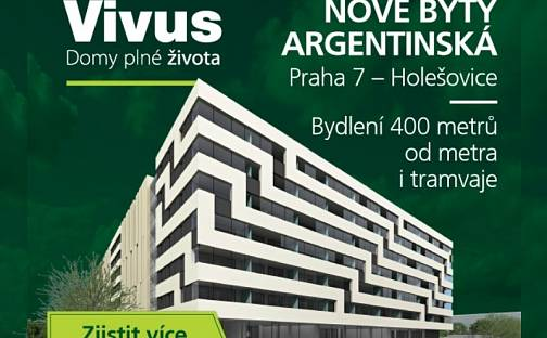 Vivus Argentinská - Nové byty u metra i tramvaje. U průhonu, Praha, U průhonu, Praha