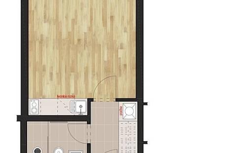 Pronájem bytu 1+kk, 25 m², Vlkova, Praha 3 - Žižkov, okres Praha
