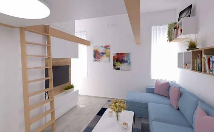 Prodej bytu 1+kk 30m², Hejtmánkova, Praha 8 - Libeň