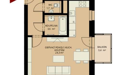 Prodej bytu 3+kk, 70 m², Bratranců Veverkových, Pardubice - Zelené Předměstí