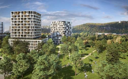 Prodej bytu 1+kk, 31 m², Mezi vodami, Praha 4 - Modřany