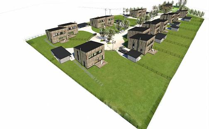 Nízkoenergetické Rezidenční domy U stadionu, Dělnická, Vrchlabí