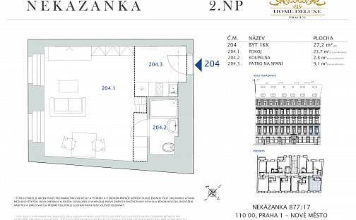 Prodej bytu 1+kk, 27.2 m², Nekázanka, Praha 1 - Nové Město