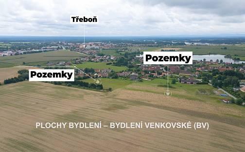 Prodej stavebního pozemku 1597m², Třeboň - Břilice, okres Jindřichův Hradec
