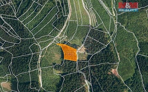 Prodej lesa, 4855 m², Lhota u Vsetína, okres Vsetín