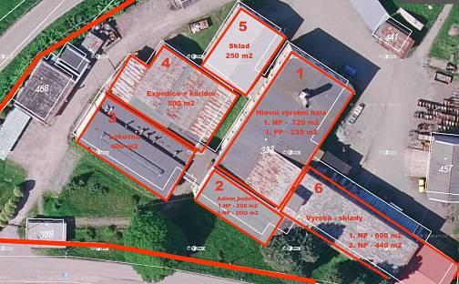 Prodej výrobních prostor, 4000 m², Miličín, okres Benešov